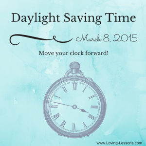 Daylight Saving Time sleep consulting Loving Lessons Raleigh
