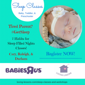 Sleep classes Babies R Us GetSleep Loving Lessons